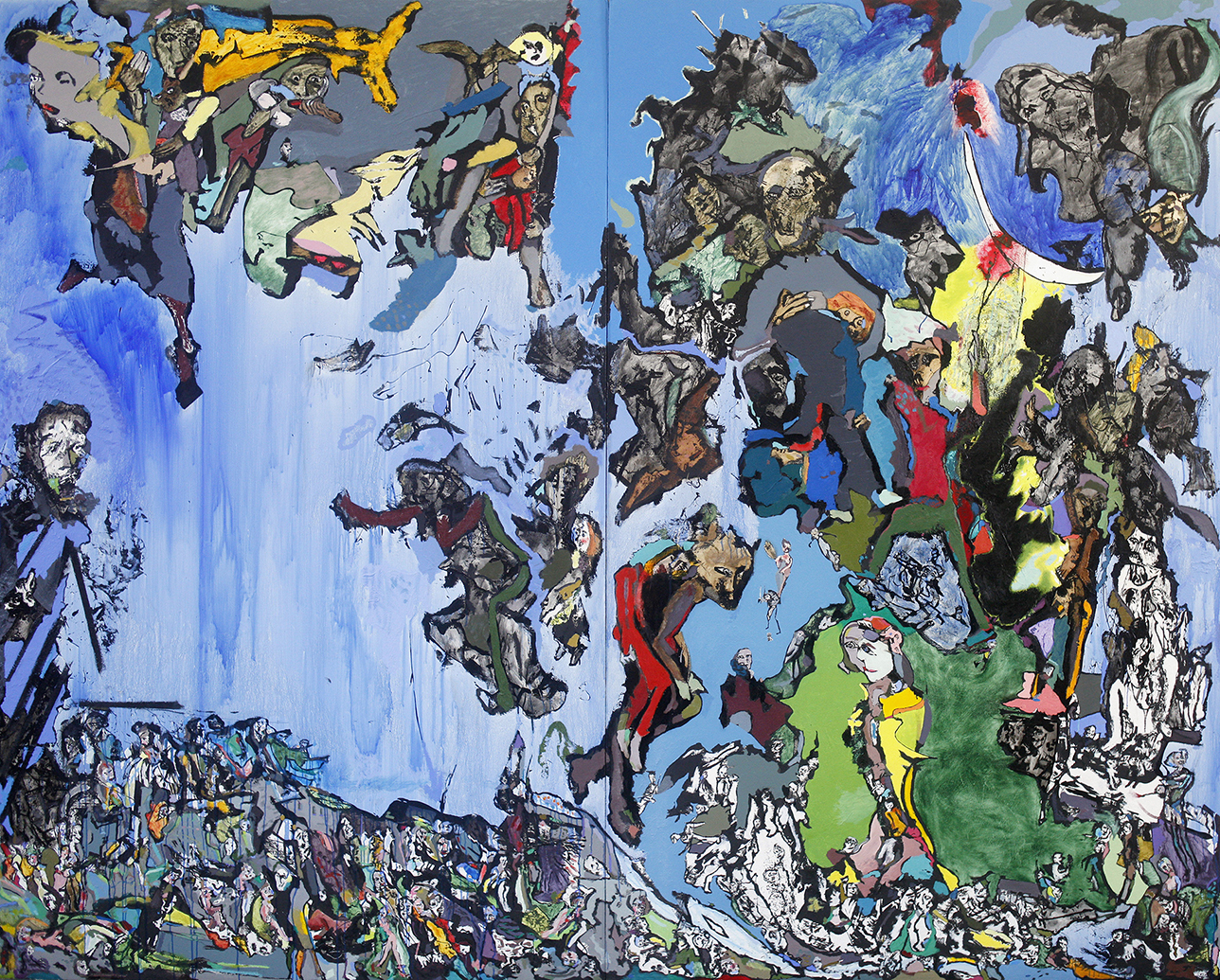 An Attempt at the Last Judgement, 2014, oil on cardboard, 244 x 305 cm / 96.1 x 120.1 in